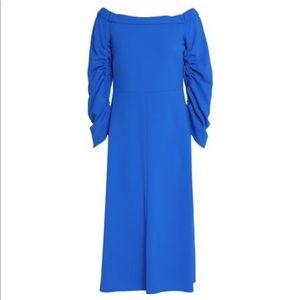 Tibi crepe off shoulder dress, sz 4, NWT